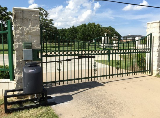 Fort worth commercial automatic security access gate