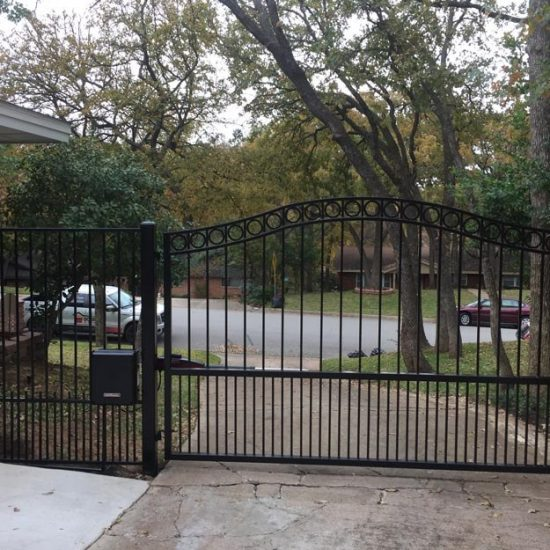 Ornamental iron gates and openers doors in motion
