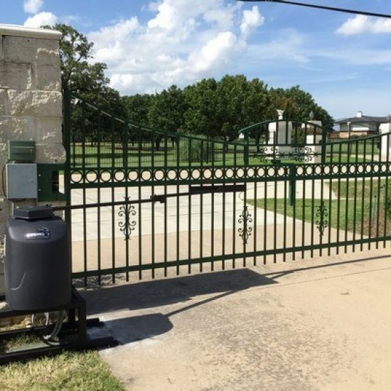 Automatic Gate Opener and Ornamental Iron Gate